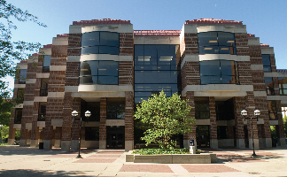 Four story Shapiro Library Complex