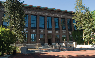 Front of Hatcher Library